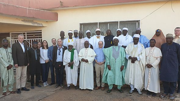 Eine missio-Delegation in Nigeria.